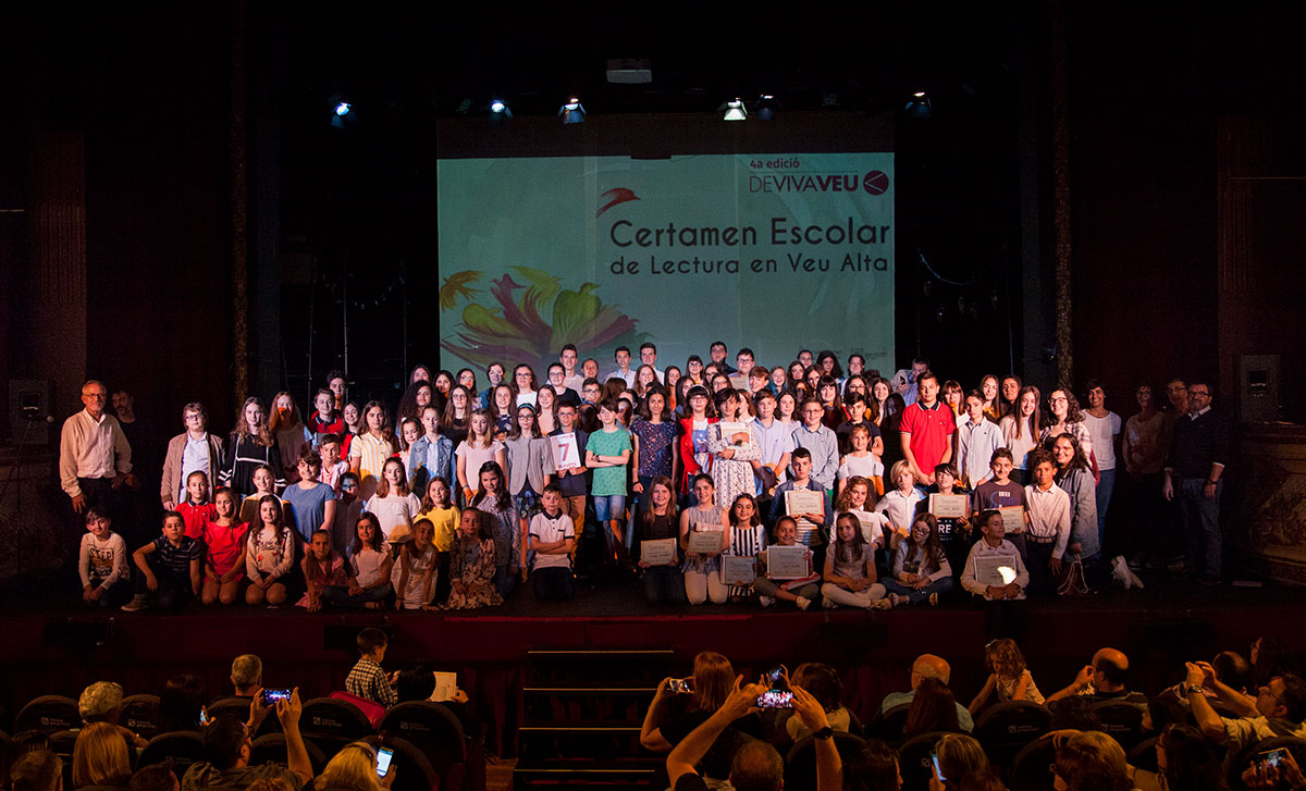 IV Certamen Escolar de Lectura en Veu Alta - Final Comunitat Valenciana. Foto: Rosella Valor